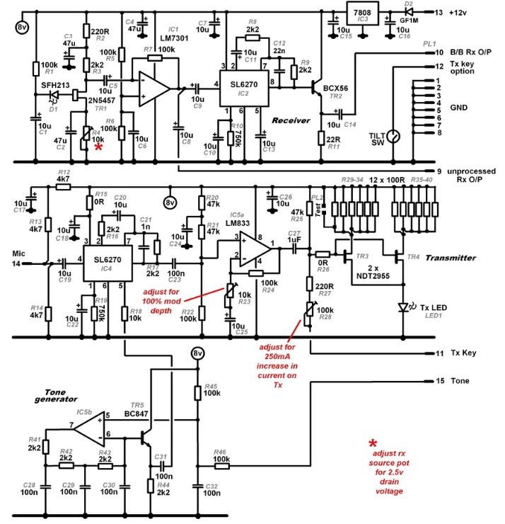 Finningley nanowave transceiver schematic